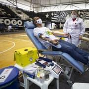 Sangue Verde e Amarelo inicia ação com o Botafogo e a CBF no Rio de Janeiro