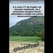 FOTO | Campos do novo CT do Botafogo são plantados e começam a ganhar cara