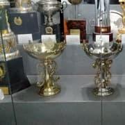 Chegaram! Botafogo exibe troféus do tri mundial de Caracas em General Severiano