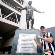 Botafogo: Túlio diz que já pode 'morrer tranquilo' com estátua e projeta jogo com Loco Abreu na volta da torcida