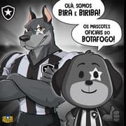 Botafogo apresenta novos mascotes: os cães Bira e Biriba
