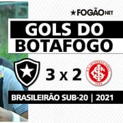 VÍDEO | Veja os três gols da vitória de virada do Botafogo sobre o Internacional no Brasileirão Sub-20
