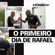 Encontro com Chay e Enderson e treino com bola: veja como foi o primeiro dia de Rafael no Botafogo ⚽🏃🏽