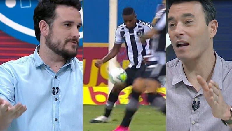 Raphael Rezende e André Rizek comentam pênalti de Marcelo Benevenuto em Bahia x Botafogo   Campeonato Brasileiro 2020
