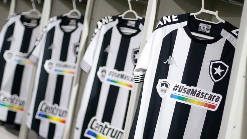 Camisa do Botafogo com o patrocínio da Centrum - Use Máscara