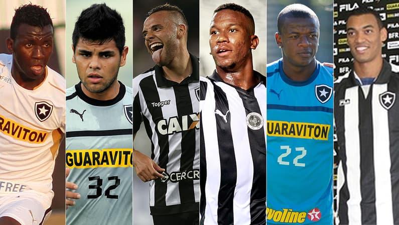 Allano, Lima, Guilherme, Ribamar, William Totin e Fabrício: Botafogo recebeu verba com mecanismo de solidariedade