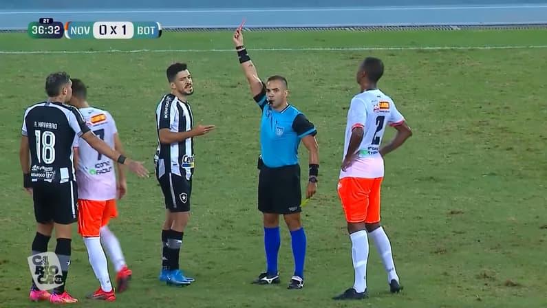 Expulsão de Marcinho em Nova Iguaçu x Botafogo | Taça Rio | Campeonato Carioca 2021