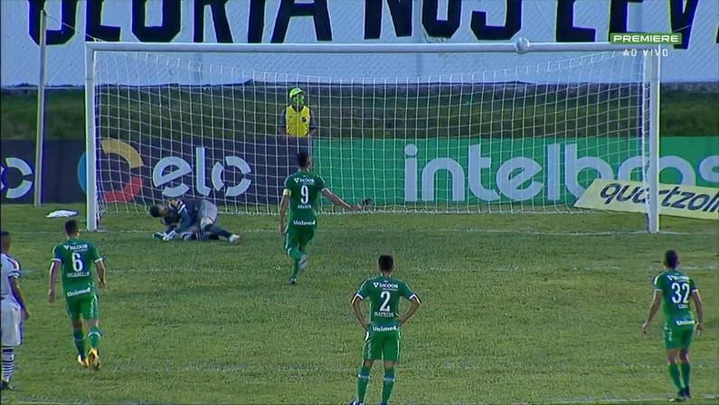 Anselmo Ramon desperdiça pênalti de cavadinha em ABC 3x0 Chapecoense pela Copa do Brasil