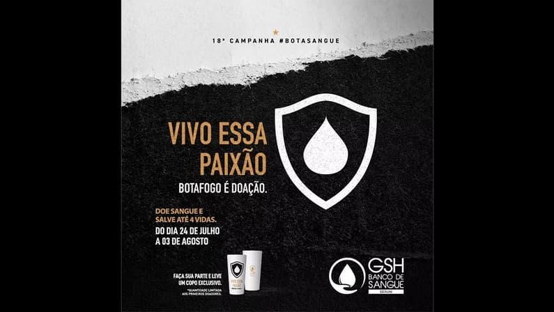 #BotaSangue: campanha convoca torcedores do Botafogo para doar sangue no Rio de Janeiro