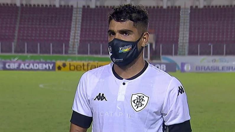 Daniel Borges em Confiança x Botafogo   Série B do Campeonato Brasileiro 2021