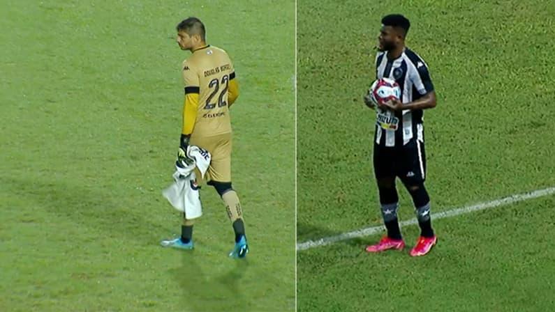 Douglas Borges e Rafael Carioca em CRB x Botafogo | Série B do Campeonato Brasileiro 2021