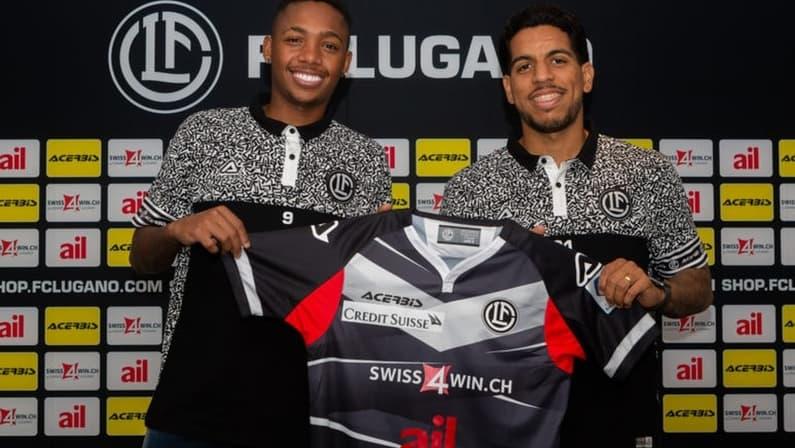 Luis Phelipe e Yuri, ex-Botafogo, são apresentados pelo Lugano-SUI