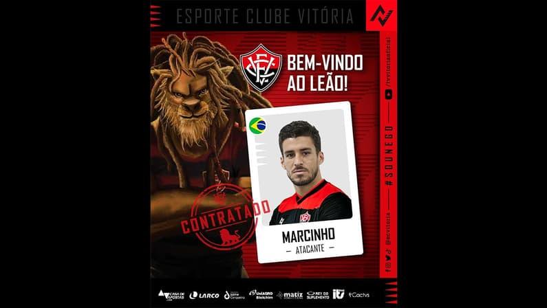 Vitória anuncia a contratação de Marcinho, ex-Botafogo