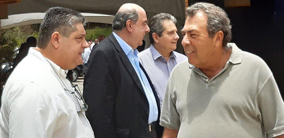 Marco Agostini, Nelson Mufarrej, Ricardo Rotenberg e Carlos Augusto Montenegro | Comitê executivo de futebol do Botafogo 2020