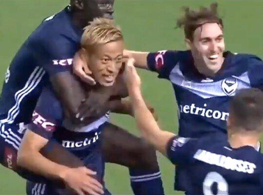 Liga relembra gols de Honda, astro do Botafogo, na Oceania: 'Todos saúdam o imperador japonês'