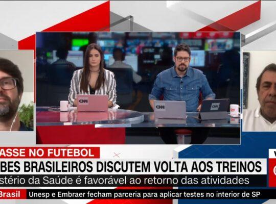 À CNN, Montenegro reitera posição do Botafogo de não jogar: 'Futebol vai ser uma das últimas atividades a voltar'
