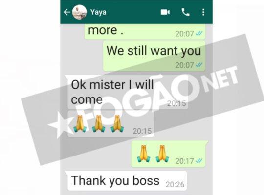 Exclusivo: conversas divulgadas pelo Botafogo mostram mudança de decisão repentina de Yaya Touré pelo Vasco