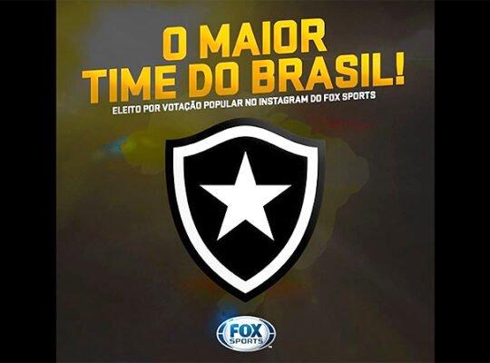 Botafogo supera Flamengo e Vasco e vence enquete popular de Maior Time do Brasil nas redes sociais