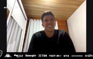 No Botafogo, Bruno Nazário se diz bem fisicamente na quarentena: 'Vamos voltar quando for seguro'