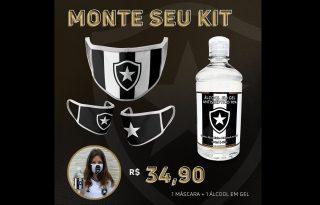 Prevenção ao coronavírus: Botafogo lança máscara e álcool gel