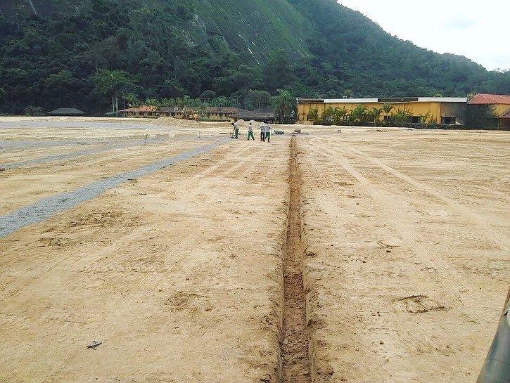 Obras do Centro de Treinamento do Botafogo divulgadas pela Empreiteira Crol