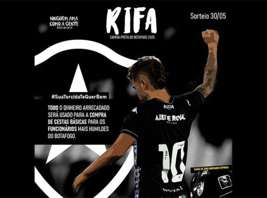 Grupo de torcedores se movimenta para ajudar funcionários do Botafogo