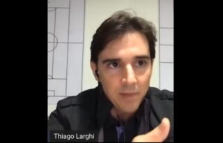 Hoje treinador, Thiago Larghi relembra início no Botafogo: 'Foi uma época boa'