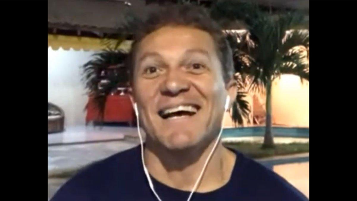 Sinval, campeão e artilheiro da Copa Conmebol de 1993 pelo Botafogo