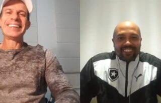 Em live com Túlio, André Silva revela ser 'pé de coelho' com títulos e diz: 'Realizei meu sonho de jogar no Botafogo'