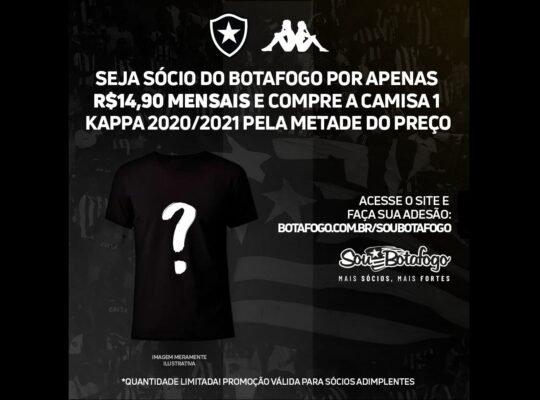 Com 3 mil novas camisas vendidas, Botafogo se desculpa com sócios por erro em site e amplia prazo