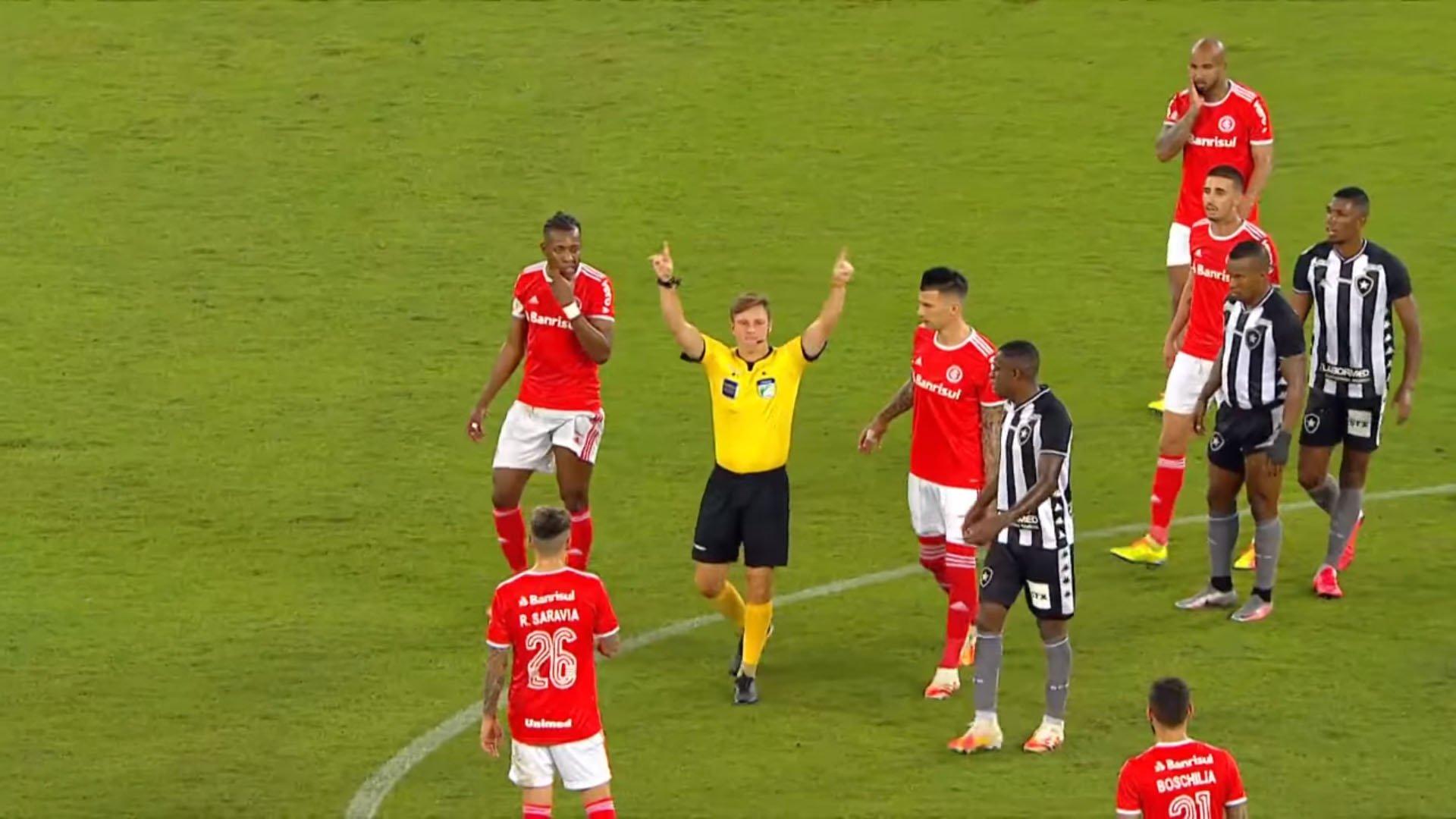 Árbitro Thiago Duarte Peixoto - Botafogo x Internacional