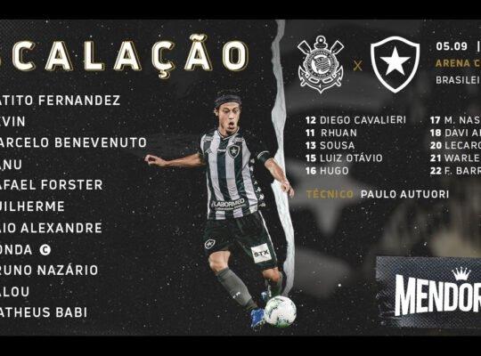 Botafogo confirmado com três zagueiros e Kalou e Babi na frente para enfrentar o Corinthians