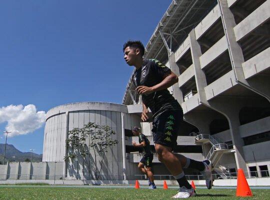Incomodados com poucas chances, empresários querem tirar Lecaros do Botafogo e levá-lo para a Argentina