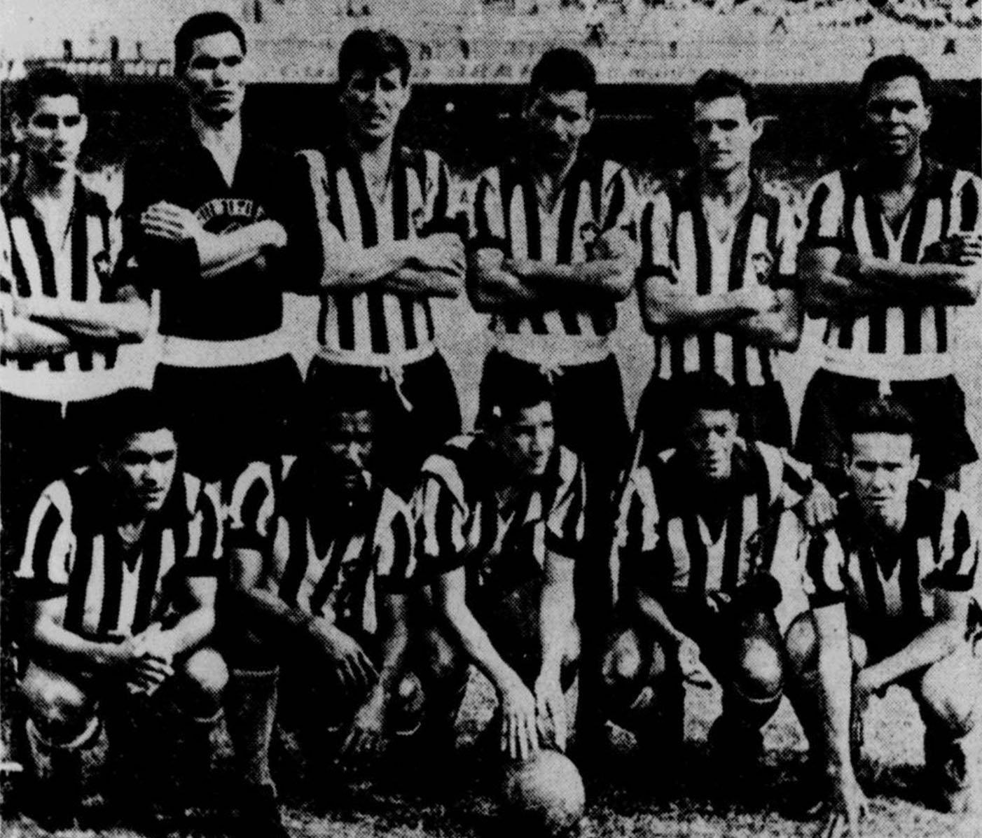 Botafogo campeão carioca de 1961, com apenas uma derrota