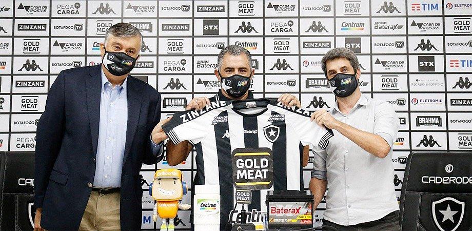 Durcesio Mello, Marcelo Chamusca e Eduardo Freeland no Botafogo