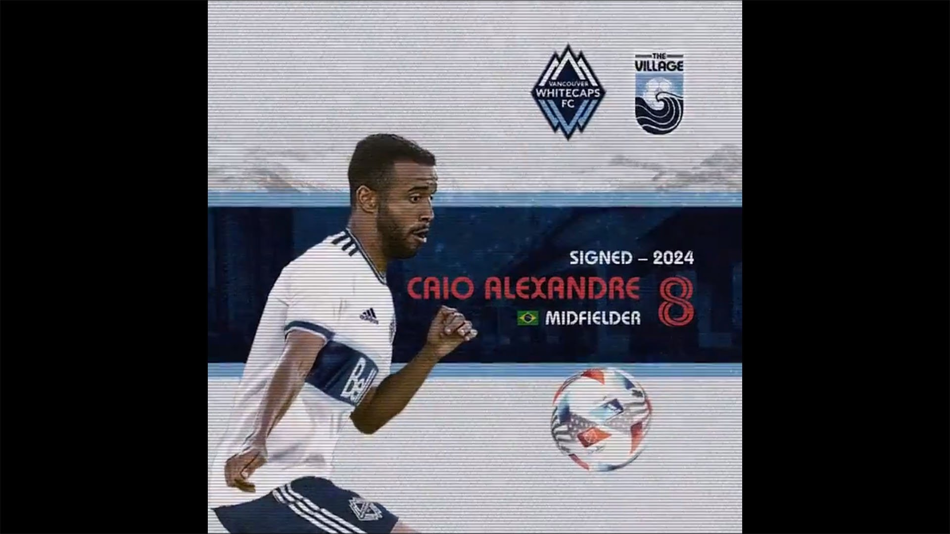 Caio Alexandre, do Botafogo, é anunciado pelo Vancouver Whitecaps