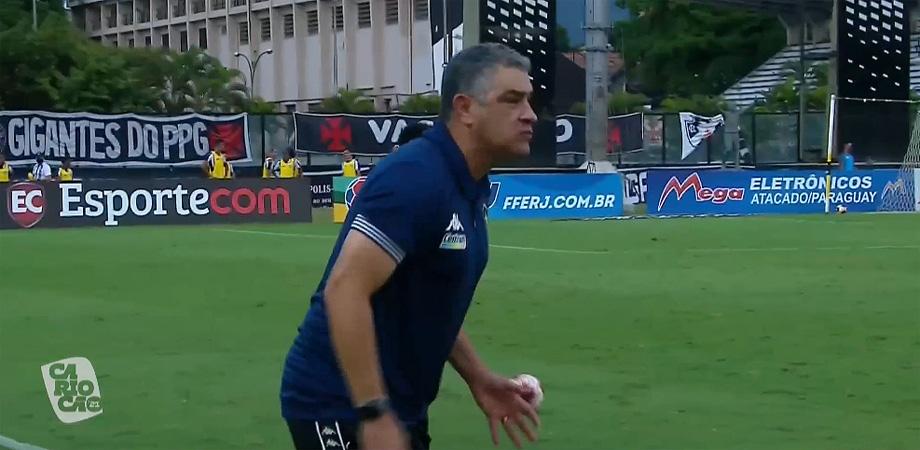 Marcelo Chamusca em Vasco x Botafogo   Taça Rio 2021