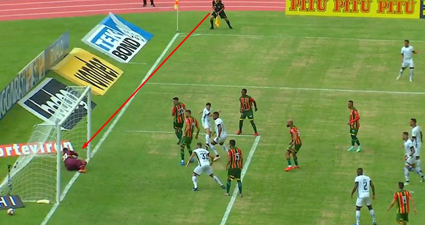 Gol não marcado pela arbitragem de Ronald em Sampaio Corrêa x Botafogo | Série B do Campeonato Brasileiro 2021